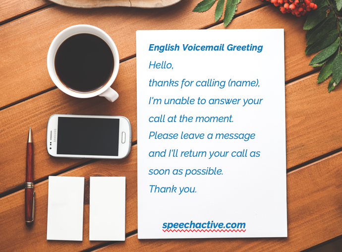 Record The Best Voicemail Greeting Sample Script Video