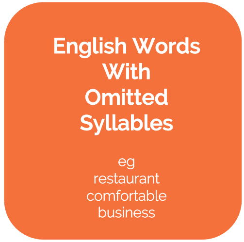 English Words With A Syllable Deleted